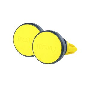 Pack 2 Sujetadores magnéticos para celular Molvu Amarillo