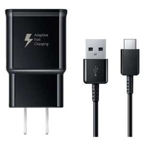 Cargador de Carga Rápida 15W Samsung Tipo C Negro