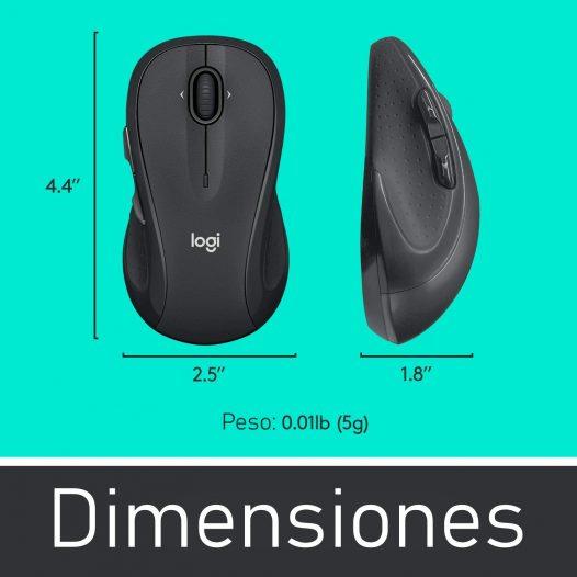 Mouse Inalambrico Logitech M510 Laser Negro