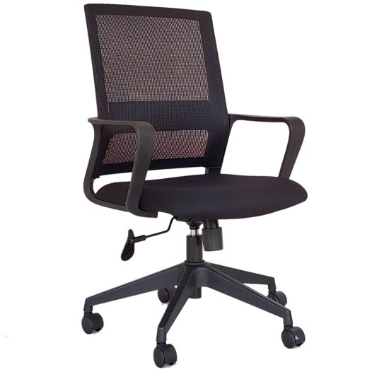 Silla para Oficina con Reposabrazos Color Negro