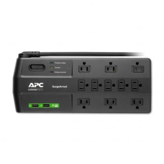 Supresor de Picos 11 salidas con 2 puertos de carga USB APC