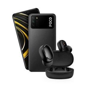 Xiaomi Poco M3 4GB RAM 64GB ROM Negro+ Mi AirDots Basic 2