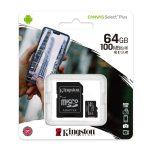 Kingston Micro SD de 64gb Canvas Select Plus A1