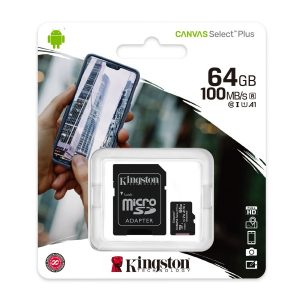 Kingston Micro SD de 64gb Canvas Select Plus A1