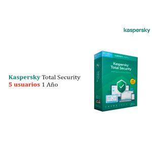 Kaspersky Total Security 5 Usuarios 1 año