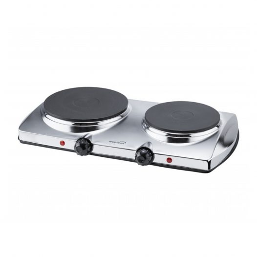 Estufa eléctrica de 2 Hornillas Plato Solido de mesa Marca Brentwood