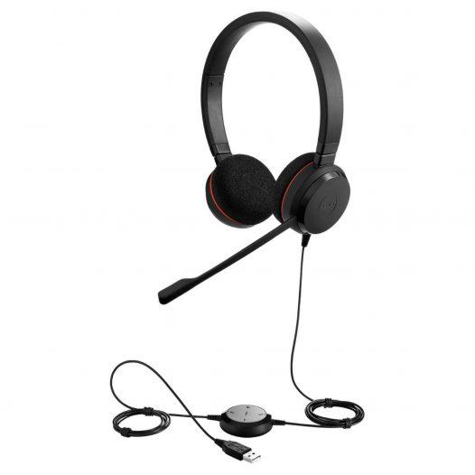 Jabra Evolve 20MS Estereo Audifonos para Call Center USB