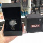 Reloj Negro Pantalla Gris