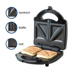 Premium Sandwichera de Lujo Acero Inoxidable