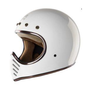 """Royal H01 Blanco Talla """"M"""", Casco Café Racer Full Face"""
