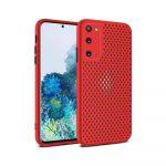 Case para Samsung S20 Antigolpes color Rojo
