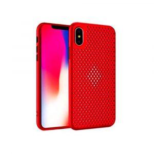 Case para iPhone XS MAX Antigolpes color Rojo