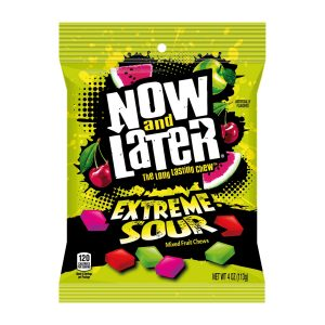 Now and Later Mezcla Agria Extrema Bolsa de 4oz