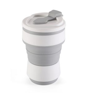 My Eko Home Taza Colapsable De Silicon Gris De 350ml