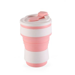 My Eko Home Taza Colapsable De Silicon Rosado 350ml