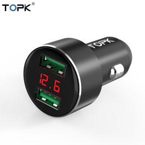 Topk Cargador de Carro USB G209