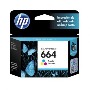 HP 664 Cartucho de Tinta Tricolor Original