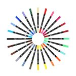 My Eko Home Marcadores Brush Pen De 24 Colores