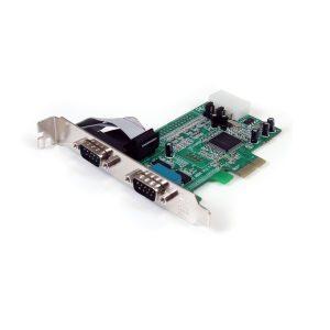 Tarjeta PCI Express de 2 Series RS232 DB9 StarTech.com