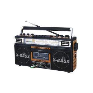 SuperSonic Radio de 4 Bandas y Cassette, Mp3 y Bluetooth