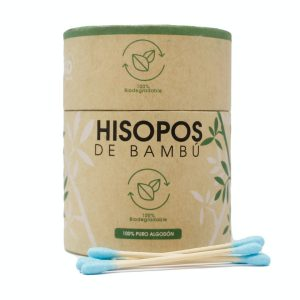 My Eko Home Hisopos De Bambu Azul 200 Unidades