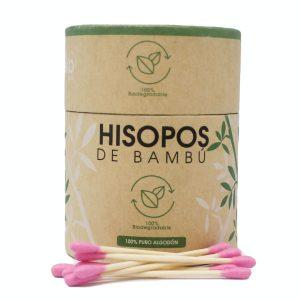 My Eko Home Hisopos De Bambu Rosados 200 Unidades
