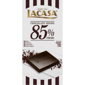 Lacasa tableta de chocolate negro 85% cacao 100 gr