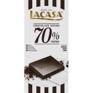 Lacasa tableta de chocolate negro 70% cacao 100 gr