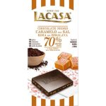 Lacasa tableta de chocolate negro 70% cacao con sal rosa del himalaya 100 gr