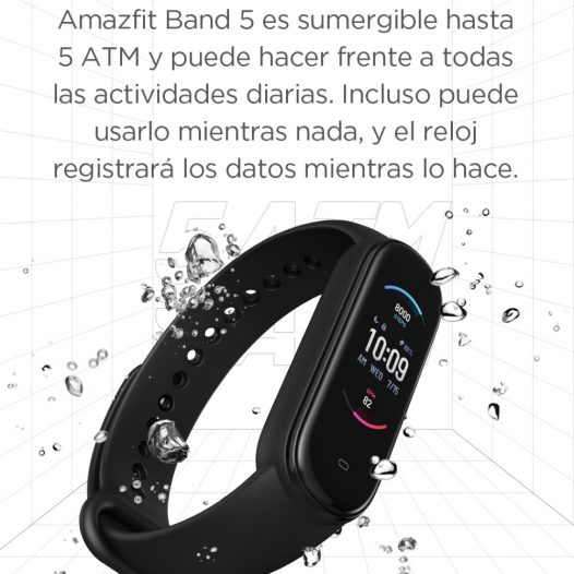Amazfit Band 5 Banda Inteligente Negro