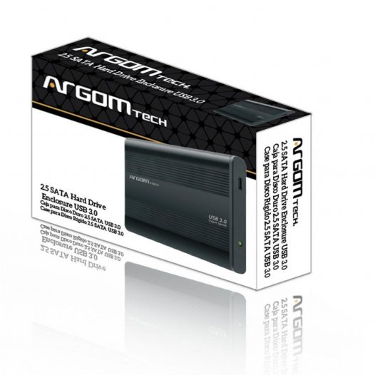 Argom Gabinete para Disco Duro Laptop SATA USB 3.0