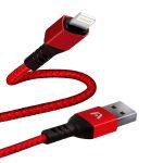 Argom Cable de Lightning a USB Nailon Trenzado Rojo
