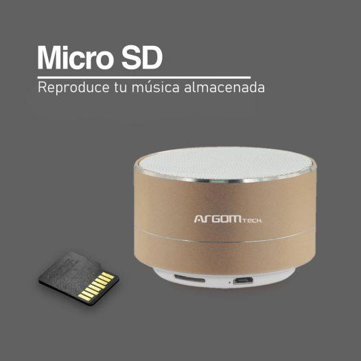 Argom Cyclone Bocina Bluetooth 3W Dorado