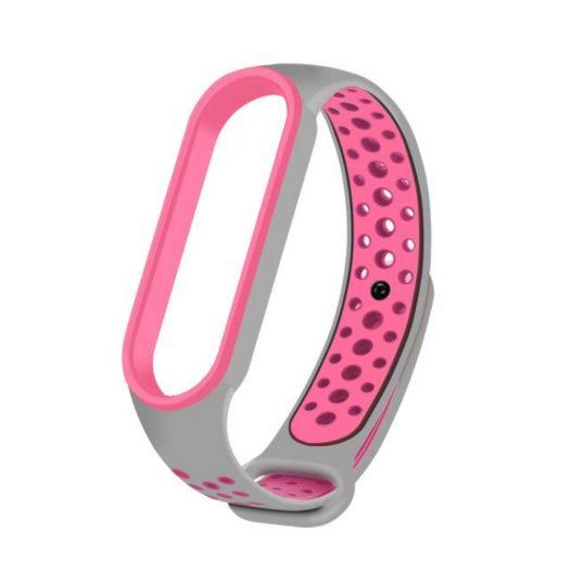 Xiaomi pulsera para Mi Band Transpirable color gris con rosado