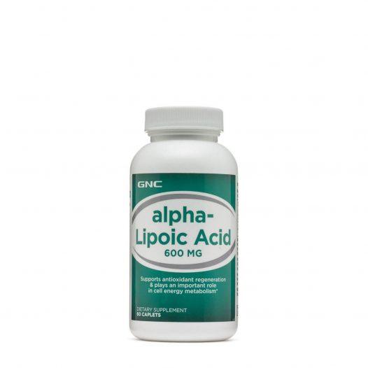 GNC Alpha Lipoic Acid 600mg 60 Tabletas.