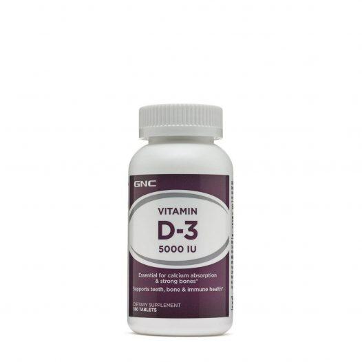 GNC Vitamin D3 5000iu 180 Tabletas.