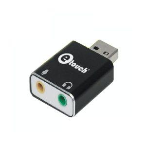 Adaptador USB de Sonido Aluminio 7.1 Canales eTouch