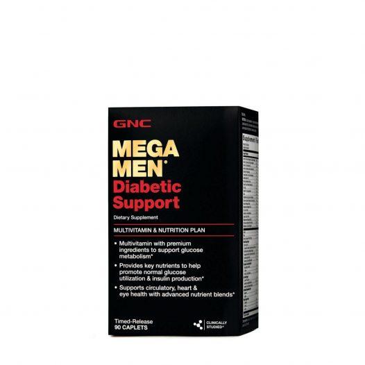 GNC Mega Men Diabetic Support 90 Tabletas