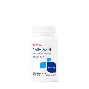 GNC Folic Acid 100 Tablets 400 Mcg