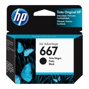 HP Cartucho 667 Negro Original