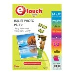 Etouch Papel Fotografico Glossy Carta 100 Hojas 190 grs