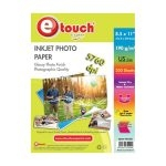 Etouch Papel Fotografico Glossy Carta 200 Hojas 190 grs