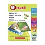 Etouch Papel Fotografico Glossy 4x6 100 Hojas 190 grs