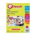 Etouch Papel Fotografico Carta Adhesivo 20 hojas 110 grs