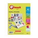 Etouch Papel Fotografico A3 Adhesivo 20 hojas 110 grs