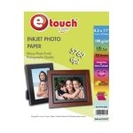 Etouch Papel Fotografico Glossy Carta 20 Hojas 190 grs