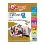 Etouch Papel Fotografico 4x6 tipo Kodak 20 Hojas 260 grs