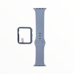 El Rey Pulsera + Bumper Con Protector De Pantalla Para Apple Watch 38 Mm Color Celeste Claro