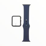 El Rey Pulsera + Bumper Con Protector De Pantalla Para Apple Watch 38 Mm Color Azul
