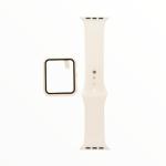 El Rey Pulsera + Bumper Con Protector De Pantalla Para Apple Watch 38 Mm Color Blanco